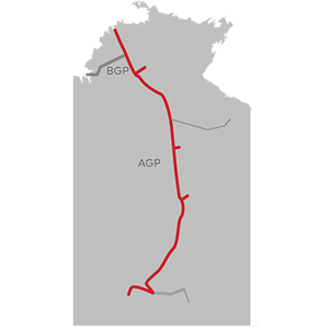 map of the Amadeus Gas Pipeline