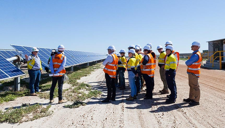 site safety induction at Emu Downs Solar Farm